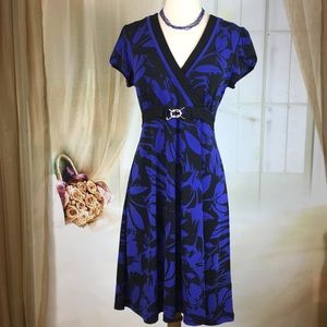 Apt. 9 Blue Short Sleeved Dress